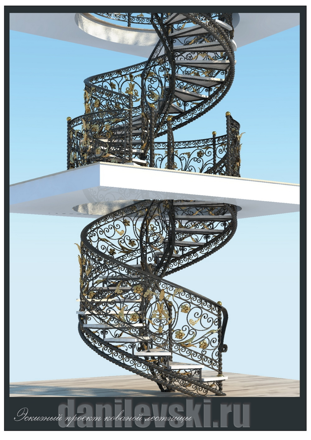Эскиз лестницы-4
