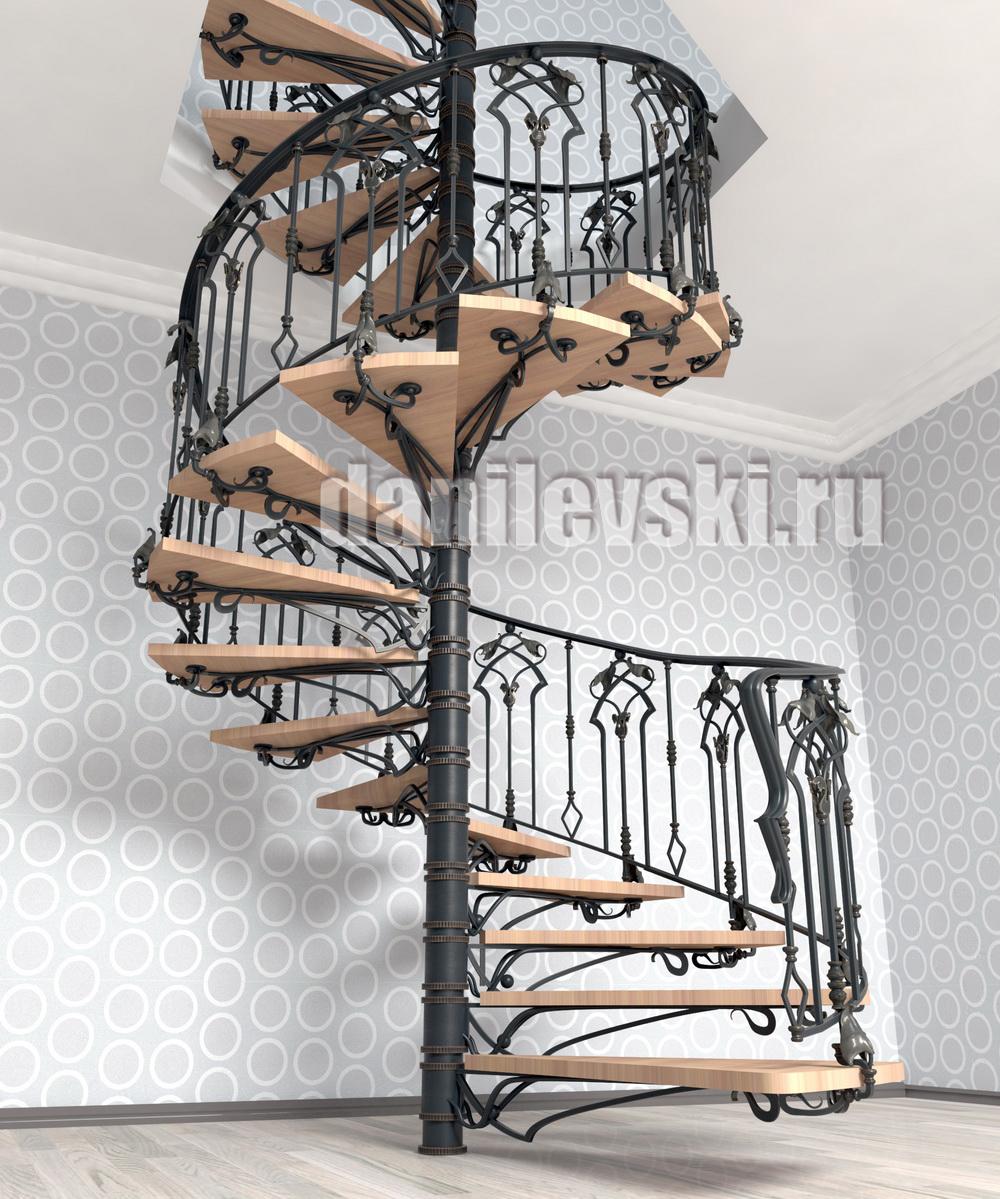 Эскиз кованой лестницы-1