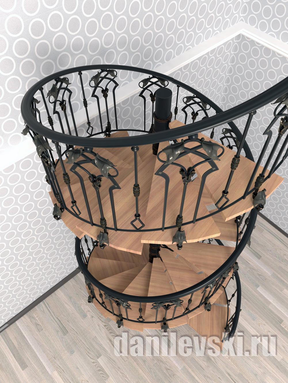 Эскиз кованой лестницы-2