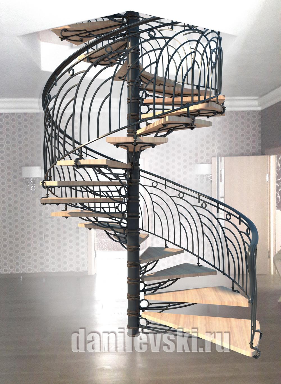 Эскиз кованой лестницы-6