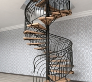 Эскиз кованой лестницы-4