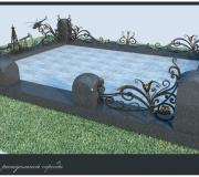 Ритуальная ограда, ковка