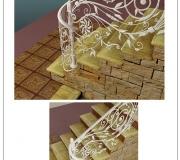 Визуализация кованой лестницы -3