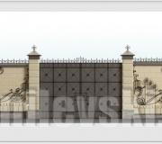 Эскиз кованых ворот - 11