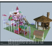 Детский городок из металлоконструкций 3