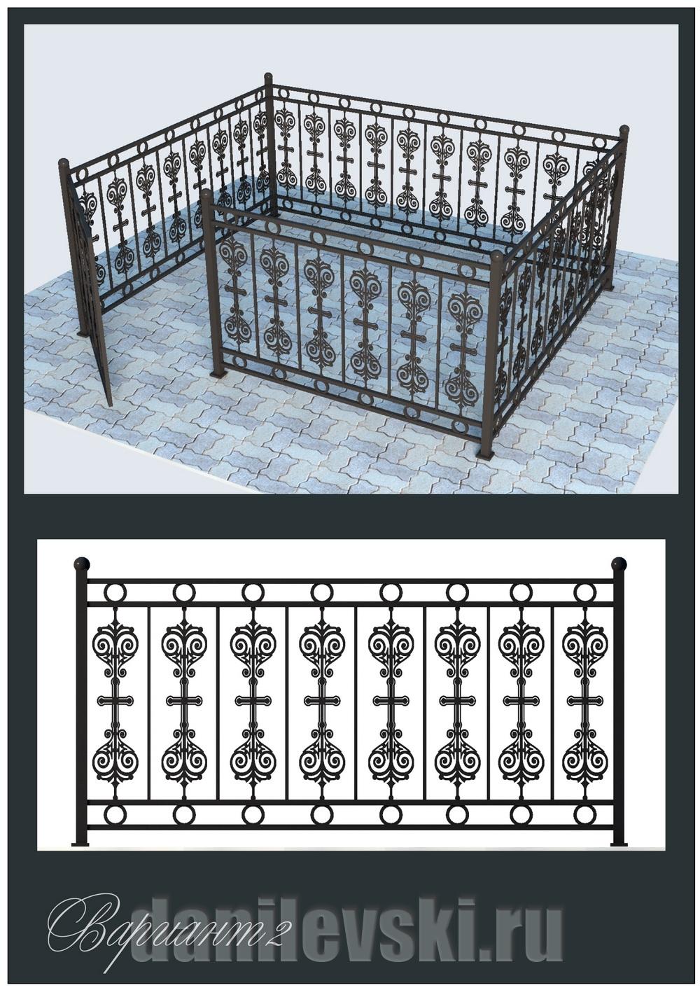 Кованая ограда 33