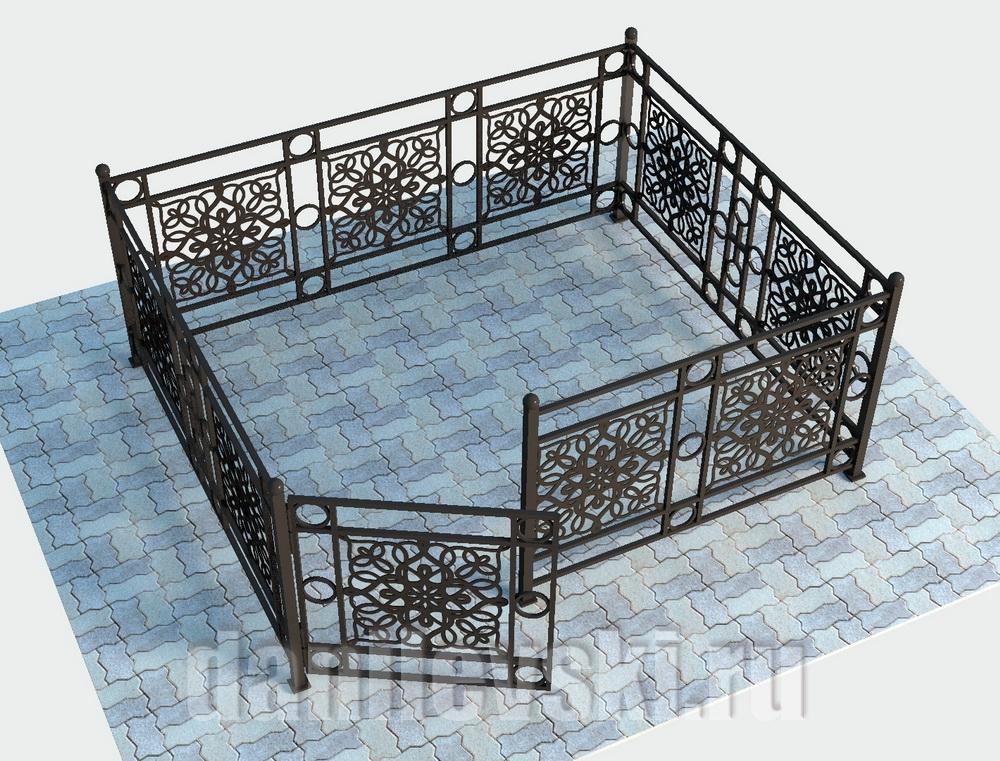 Кованая ограда 32