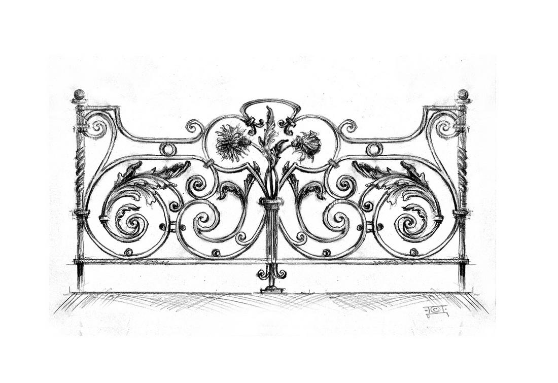 Эскиз кованой ограды - 2