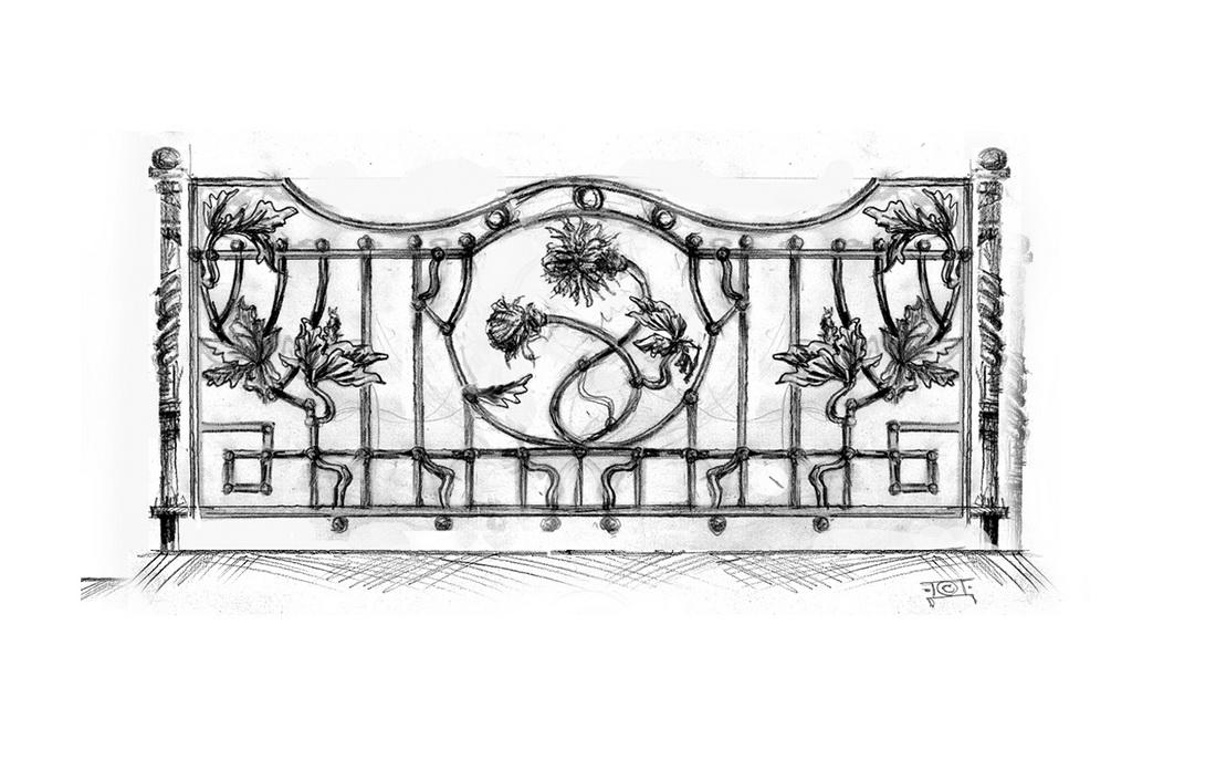 Эскиз кованой ограды - 3
