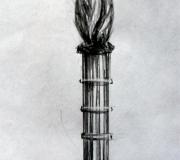 Эскиз кованого столба - 2