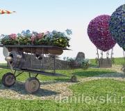 Эскиз - Ковка, цветник