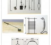 Визуализация - кованый набор для камина - 3