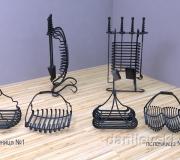 Визуализация - кованый набор для камина - 5