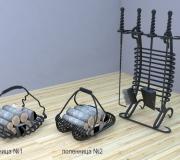 Визуализация - кованый набор для камина - 4