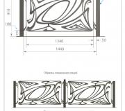 Кованая ограда - визуализация 3D - 1
