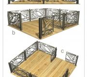 Кованая ограда - визуализация 3D - 2