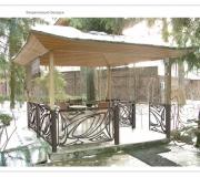 Кованая ограда - визуализация 3D - 3