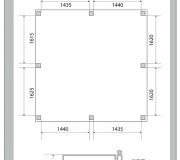 Кованая ограда - визуализация 3D - 5