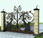 Ворота кованые для детского сада - 3