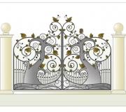 Ворота кованые для детского сада - 1