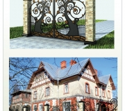 Ворота кованые для детского сада - 4