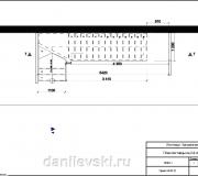 Лестница металлическая чертеж - 1