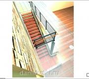 Лестница металлическая визуализация - 5