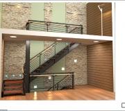 Лестница металлическая визуализация - 1