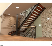 Лестница металлическая визуализация - 2
